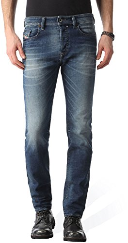 Diesel Tapered Jeans Buster blu in stile Washed Out jeans 40W x 32L
