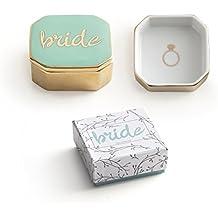 Regalo para novia boda Rosanna – porcelana y dorado Joyero anillo ...
