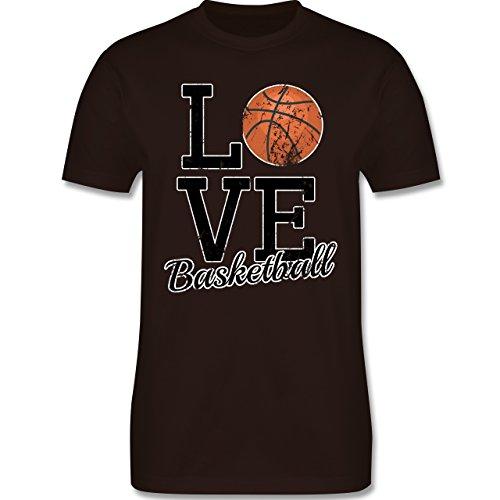 Basketball - Love Basketball - Herren Premium T-Shirt Braun
