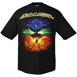 Chameleon Clothing Gamma Ray to The Metal Tour eg1099–Camiseta Negro