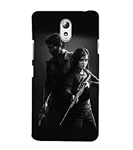 Takkloo Warrior of hollywood black background,guy and girl in action, hollywood movie cover) Printed Designer Back Case Cover for Lenovo Vibe P1M :: Vibe P1m