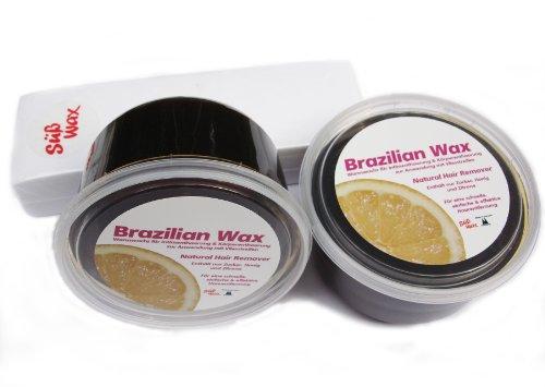 1200g Süß Wax Brazilian Wax zur Enthaarung mit Vlies 100% Natürlich. Warmwachs aus Zucker, Honig und Zitrone. Bikini Wax Sugaring Zuckerpaste + 100 Vliesstreifen