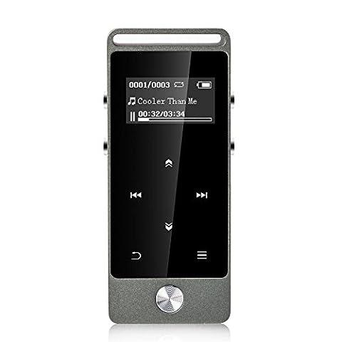 AGPTek M20 | Refusez le Faux! | Lecteur Mp3 de Métal, Lecteur MP3 Tactile 8Go (108 Chiave Usb)