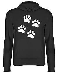 Paw Prints Dog Hooded Top Unisex Hoodie