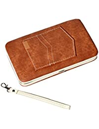SCEVA Casual Bi-fold Leather Brown Wallet/Clutch With Card Slots/Money Pockets For Women & Girl's