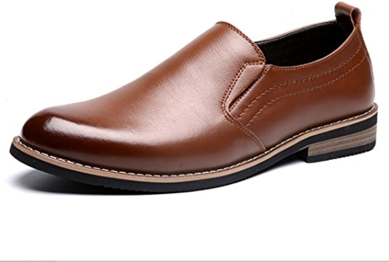 SHANGWU Herren Bullock Lederschuhe Business Schuhe Low Cut Spitz Freizeitschuhe Herren England Single Schuhe Tooling
