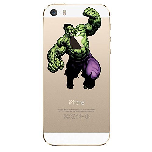 NEW DISNEY CARTOONS TRANSPARENT CLEAR TPU SOFT CASE FOR APPLE IPHONE 8 SUPERMAN HULK