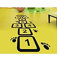 BMBM Digital hopscotch jumping plaid pattern floor stickers kindergarten children room activity room classroom floor stickers,75 * 266cm