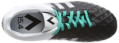 adidas Unisex-Kinder Ace 15.4 Fxg Fußballschuhe Schwarz (Core Black/Matte Silver/Shock Mint S16)