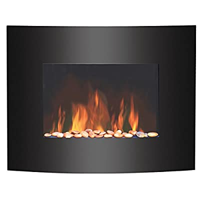 Igenix IG9410 Hamilton Glass Wall-Mounted Electric Fire with Flame Effect