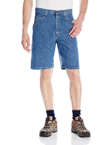 Wrangler Men's Big-Tall Authentics Classic Denim Carpenter Short, Antique Stonewash, 44 - Denim Carpenter Shorts