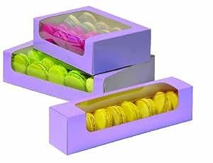 Boîte à biscuits ou 8 macarons avec fenêtre par 50