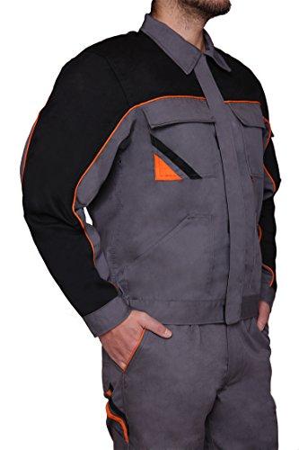 Arbeitsjacke Jacke 320gr, Professional, Mechaniker, Gärtner, KFZ, Handwerker (50, grau)