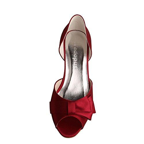 Red wedopus wedopus Wine Ballerine donna Ballerine xw1y86qHO