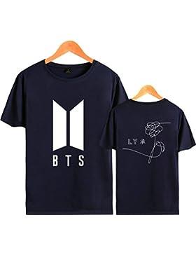 SIMYJOY Pareja Bangtan Boys Fans Camiseta BTS KPOP loveyourself Her T-Shirt Hip Pop Cool Manga Corta Para Hombre...