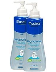 Mustela Physiobébé Fluide Nettoyant Sans Rinçage Lot de 2 x 500 ml