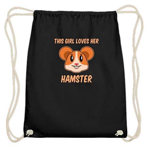 Hochwertige Baumwoll Gymsac - Dieses Mädchen Liebt Ihren Hamster Liebe Haustier Nager - Schlichtes Und Witziges Design