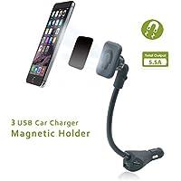 Eximtrade Universale Magnetico Portacellulare Auto Montare con 3 USB Porte