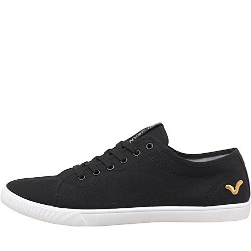 mens-boys-black-voi-jeans-sanford-canvas-trainers-lace-up-pumps-uk-9
