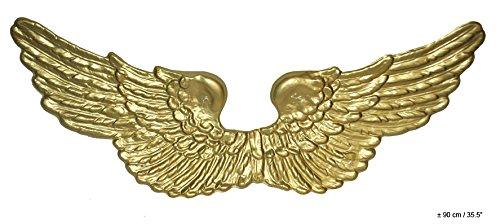 e gold - ca. 90 x 24 cm Plastik - Karneval Kostüm Zubehör Accessoires - Atrumpa (Engel Flügel Zubehör)