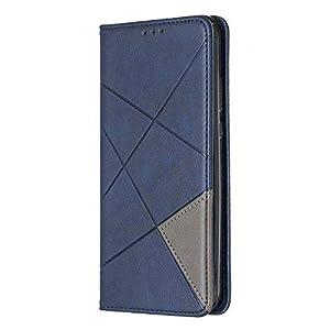 Docrax Handyhülle Lederhülle für Huawei P20 Lite 2019/nova 5i, Flip Case Schutzhülle Hülle mit Standfunktion Kartenfach Magnet Brieftasche für Huawei P20Lite 2019 – DOBFE160175 Blau