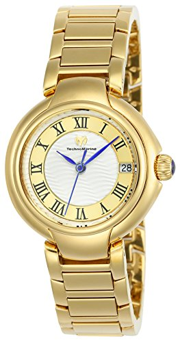 Technomarine Women's 'Sea' Quartz Stainless Steel Casual Watch, Color:Two Tone (Model: TM-716007)