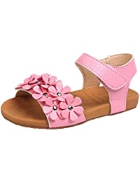 49d841d03047b OHQ Sandales de Plage pour Filles Rose Blanc Toddler Baby Girl Floral Sole Enfants  Princesse Chaussures Parapluie BéBé Fille dans Et…