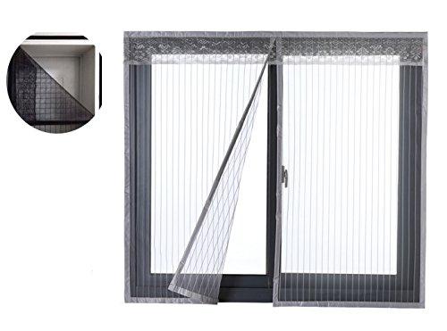 Liveinu zanzariera magnetica per porte finestre tenda zanzariera con magneti rete anti zanzare zanzariera 100x150cm grigio