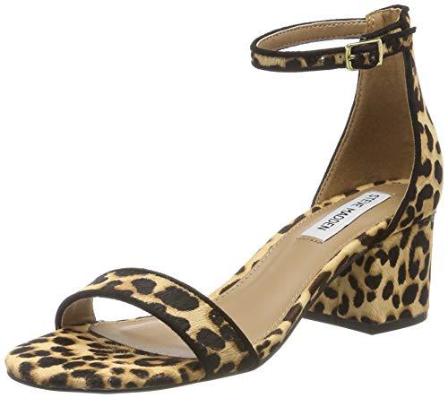 Steve Madden Damen Irenee (Leopard) Knöchelriemchen Sandalen, Mehrfarbig 969, 41 EU -