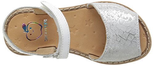 Shoo Pom Meal Palma, Sandales Fille Argent (Silver/White)