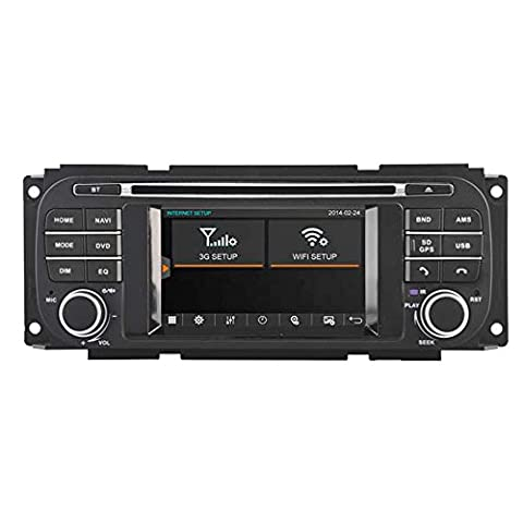 witson® Lecteur DVD de voiture pour Jeep Grand Cherokee 1999–2001/Durango (2002–2003)/Grand Cherokee modèles 2002–2004/Jeep Liberty/caravane (2002–2007)/Concorde/Dakota/300 m/interpid (2002–2004)/RAM PT CRUISER/Pick-Up/Sebring Cabriolet/ Sebring Berline/Stratus Berline (2002–2006)/Jeep Wrangler 2003–2006 GPS Navigation Audio Vidéo Système stéréo avec écran tactile capacitif Radio (AM/FM) Support SD/USB/iPod/iPhone/3G/Vidéo/DVR/Back Up Kit mains libres pour appareil photo/Bluetooth/volant