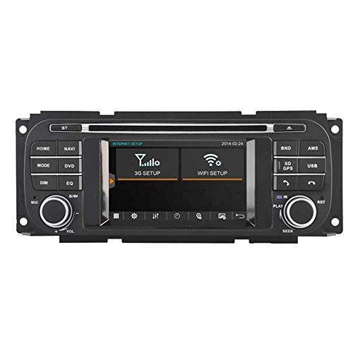 witson® Auto DVD Player für Jeep GRAND CHEROKEE 1999–2001/DURANGO (2002–2003)/Grand Cherokee 2002–2004/Jeep Liberty/Caravan (2002–2007)/Concorde/Dakota/300 M */interpid (2002–2004)/PT Cruiser/RAM Pick-Up/Sebring Cabrio/ Sebring Limousine/Stratus Limousine (2002–2006)/Jeep Wrangler 2003–2006 GPS Navigation Audio Video Stereo System mit kapazitivem Touch-Display Radio (am/fm) Unterstützung SD/USB/iPod/iPhone/3G/Video/DVR/Back Up Kamera/Bluetooth für Hands-Free/Lenkradfernbedienung (Radio Navigation Dodge Ram 2007)
