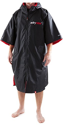 2017-Dryrobe-Advance-Short-Sleeve-Premium-Outdoor-Change-Robe-DR100-ADULT-L-Black-Red