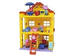 BIG Peppa Pig Haus - Peppa´s House, Construction Set, BIG-Bloxx Set bestehend aus Familie und Gebäude, 107 Teile, Multicolour, für Kinder ab 18 Monaten