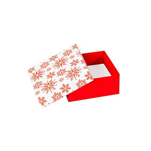 Jouailla Vide Poche Carton Blanc/Rouge, Flocons Rouges