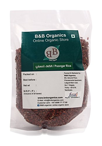 B&B Organics Red Rice (Poongar Rice – Hand Pounded), 1 kg