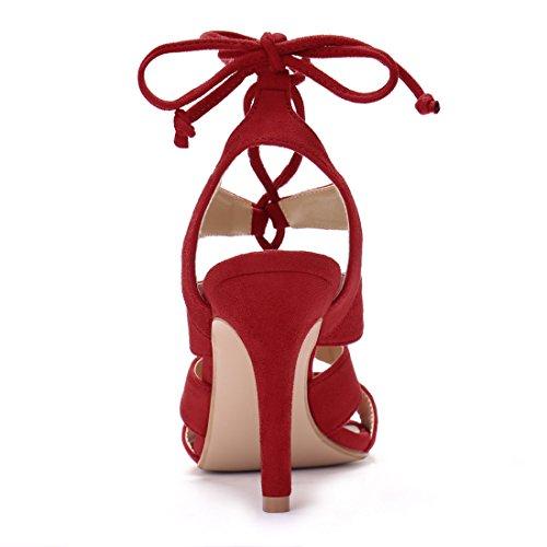 Allegra K, Sandali donna Red