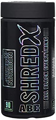 Applied Nutrition ABE (All Black Everything) Shred X Fat Burner Thermogenic Food Supplement with Chromium, Caffeine and B Vitamins 90 Capsules - 30 Servings by Applied Nutrition