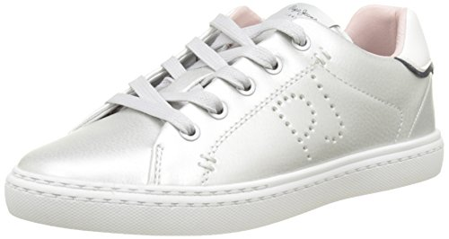 Pepe Jeans M盲dchen Halley Basic Low-Top Grau (Silver Grey)