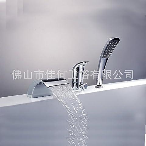 Furesnts casa moderna cucina e il lavandino del bagno rubinetti la striscia di rame di cui le cascate del Niagara al di fuori dell'acqua con vasca dispositivo Miscelatore lavandino del bagno rubinetti,(Standard G 1/2 tubo flessibile universale