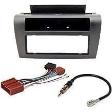 Watermark - Conjunto de instalación de radio para Mazda 3BK para modelos de 2003-2009,frontal DIN de radio con compartimento + adaptador de antena de radio