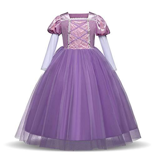 RBHSG 4 7 8 9 10 Years ELSA Dress Children Role-Play Costume Princess Cinderella Girls Ball Gown Party Christmas Cosplay Vestido Blue Silver 4T (Gold Rush Kostüm)