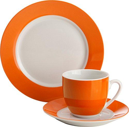 Gepolana Kaffeeservice 18-tlg. Porzellan orange