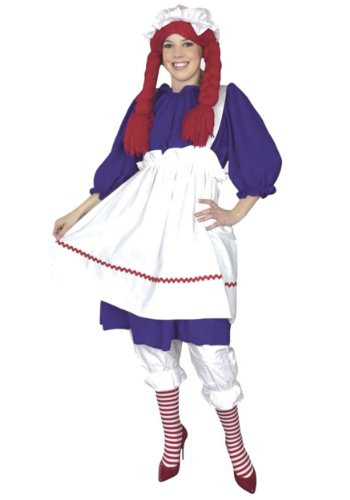 Charades Plus Size Rag Doll Fancy Dress Costume 2X (Raggedy Andy Kostüm Für Erwachsene)