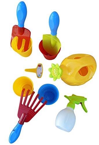 ege Set, A184, 10tlg. Set für die kleinen Hobbygärtner, so kann Gartenarbeit auch Spaß machen, Geschenk-idee für Jungen und Mädchen für Weihnachten und zum Geburtstag, Geburtstags-Geschenk (Oster-spielzeug Für Kinder)