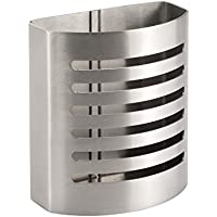 InterDesign Forma Pen Holder, Magnetic Pen Pot for Pens, Pencils and Other Stationery, Stainless Steel, Brushed, 5.3 x 10.2 x 15.9 cm