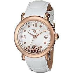SWISS LEGEND 22388-RG-02 - Reloj para mujeres, correa de cuero color blanco