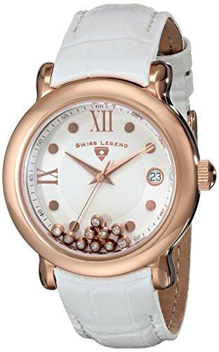 Swiss Legend 22388-rg-02–Uhr für Frauen, Leder-Armband Weiß