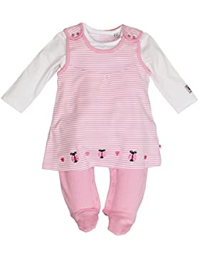 SALT AND PEPPER Baby-Mädchen Strampler NB Playsuit Dress Glück Stripe