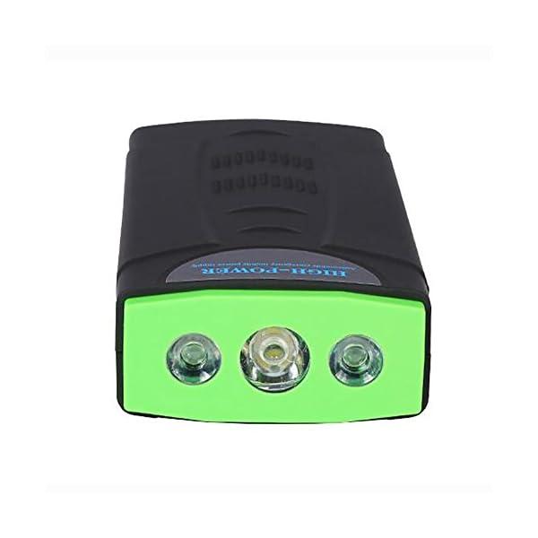 MIAO Auto Jump Starter – Fuente de alimentación de arranque de emergencia para automóvil multipropósito de 12V, 68800mAh 3.0L Coche de gasolina y 2.0L para automóvil diesel Linterna de LED universal Banco de alimentación / alimentación móvil